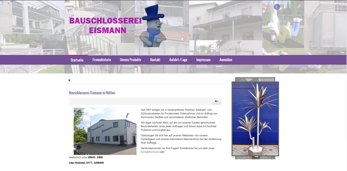 Joomla + Virtuemart Katalog - Bauschlosserei Eismann