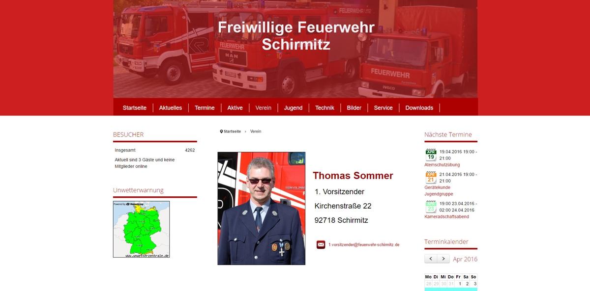 Feuerwehr Homepage - Schirmitz