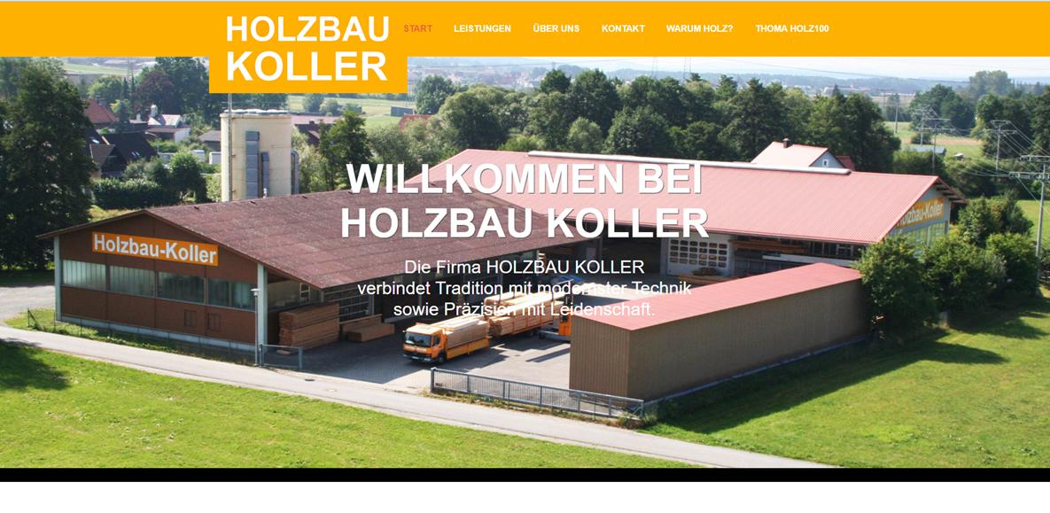 Homepage Holzbau Koller